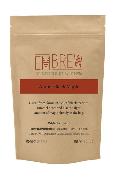 Amber Black Maple Sweetened Tea Bags