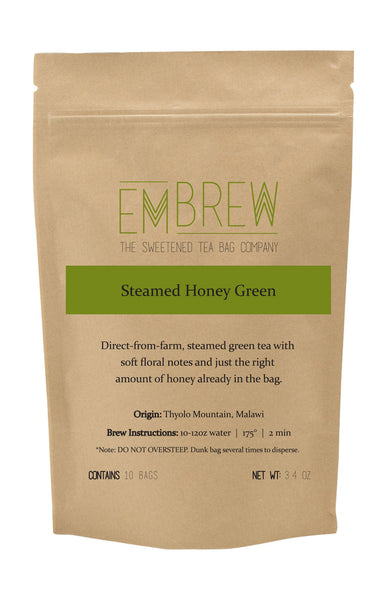Steamed Honey Green Sweetened Tea Bags