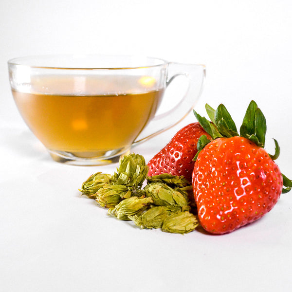 Strawberry Yaupon Hops Sweetened Herbal Tea Bags