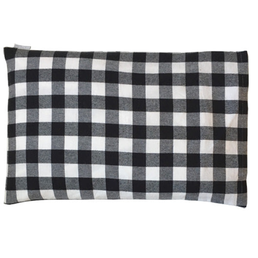Child Pillow - Black/White Plaid (Flannelette)