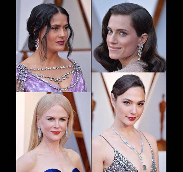 Platinum Jewelry Steals the Spotlight at the 90th Academy Awards