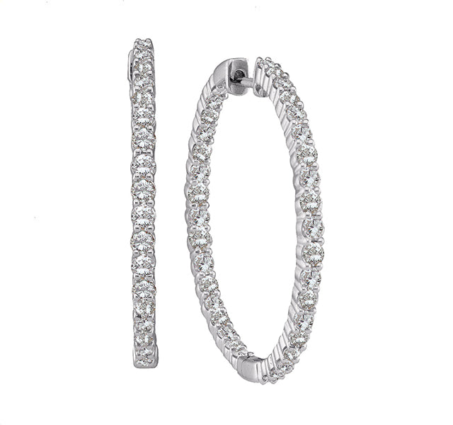 Diamond Hoops 2ct