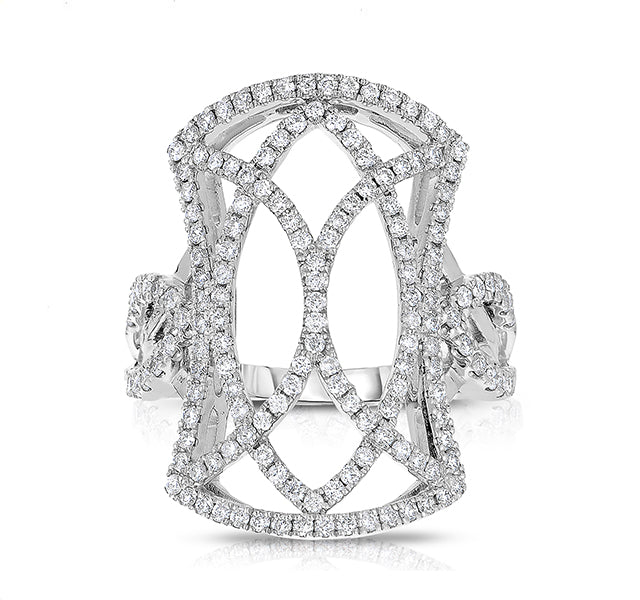 Open Design Diamond Ring