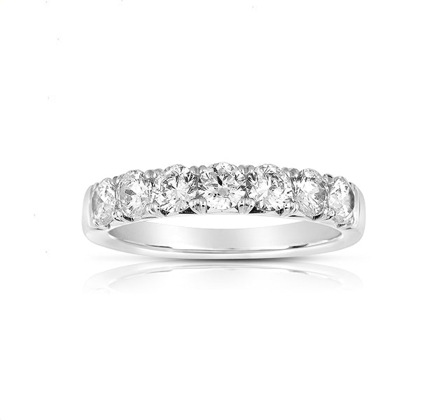 7 Stone French Cut Diamond Band