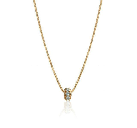 Mother's Rondelles Collection Aquamarine Rondelle