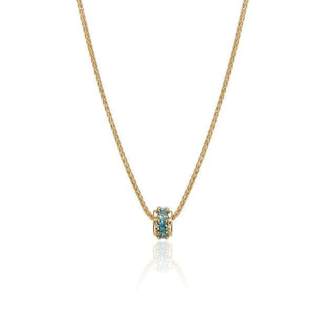 Mother's Rondelles Collection Blue Topaz Rondelle