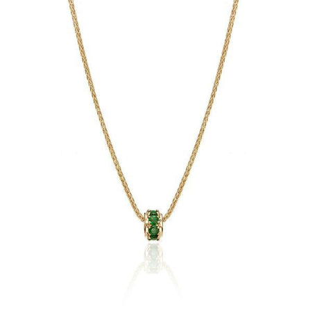 Emerald Rondelle in Yellow Gold