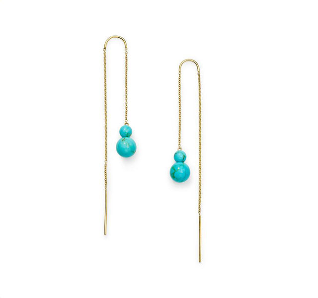 Threader Earring in 18K Gold