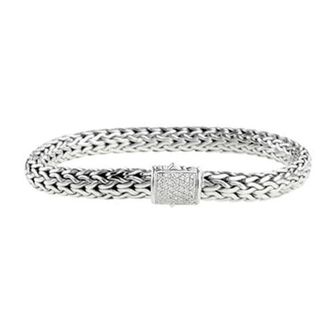 Diamond Classic Chain Diamond Bracelet sz med