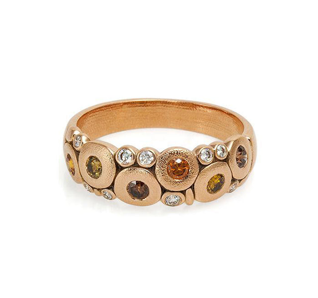 18k Rose Gold And Diamond Candy Dome Ring