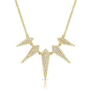Diamond Dagger Pavé Necklace