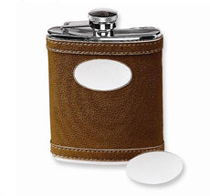 Stainless Steel Flask in Brown