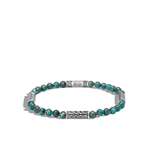 Classic Chain Bead Bracelet with Chrysocolla