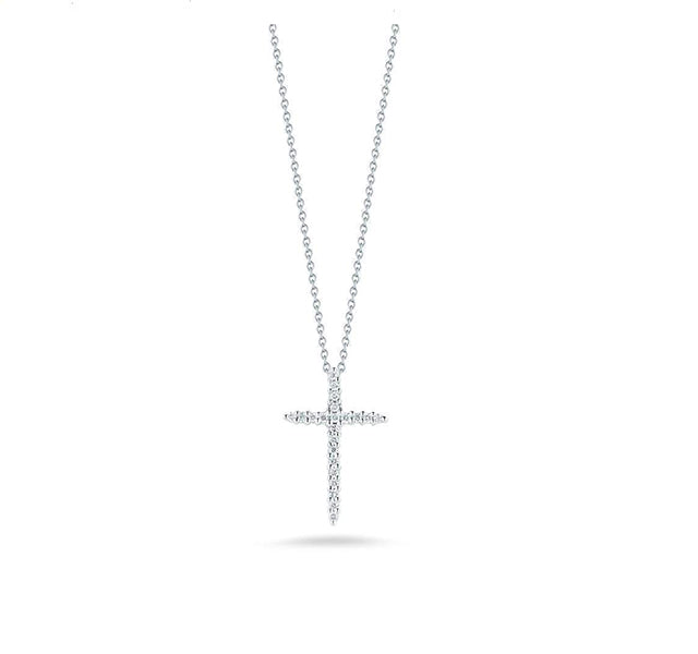 Thin Diamond Cross Pendant