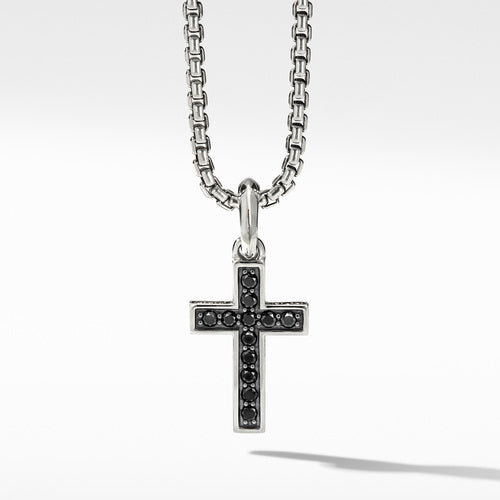 Cross Pendant with Pavé Black Diamonds