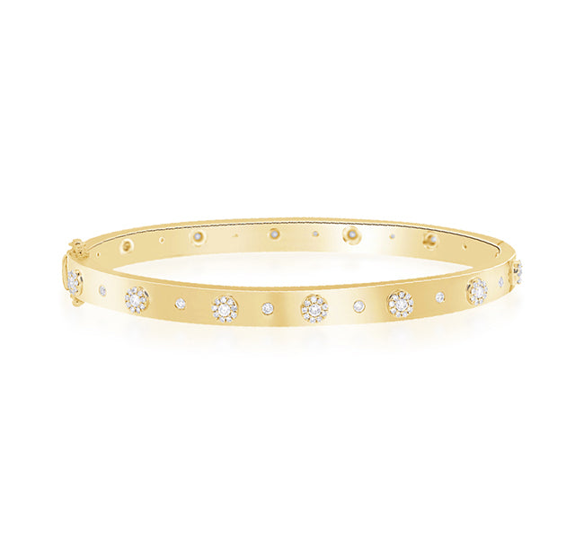 Diamond Cuff In Yellow Gold