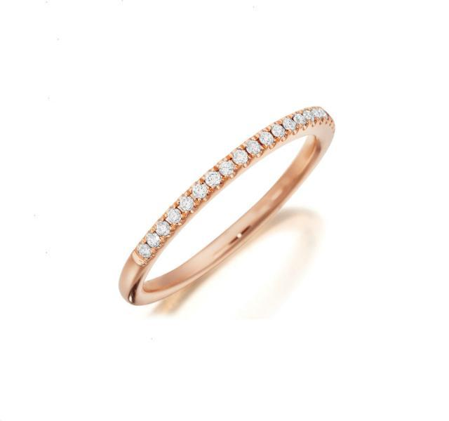 Diamond Band in Rose Gold