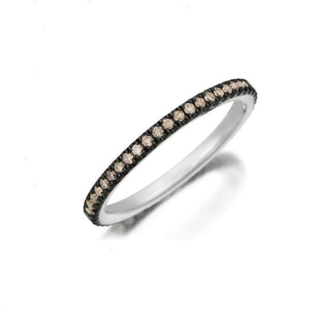 Brown Diamond Eternity Band