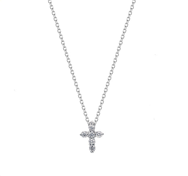 Diamond Cross in White Gold