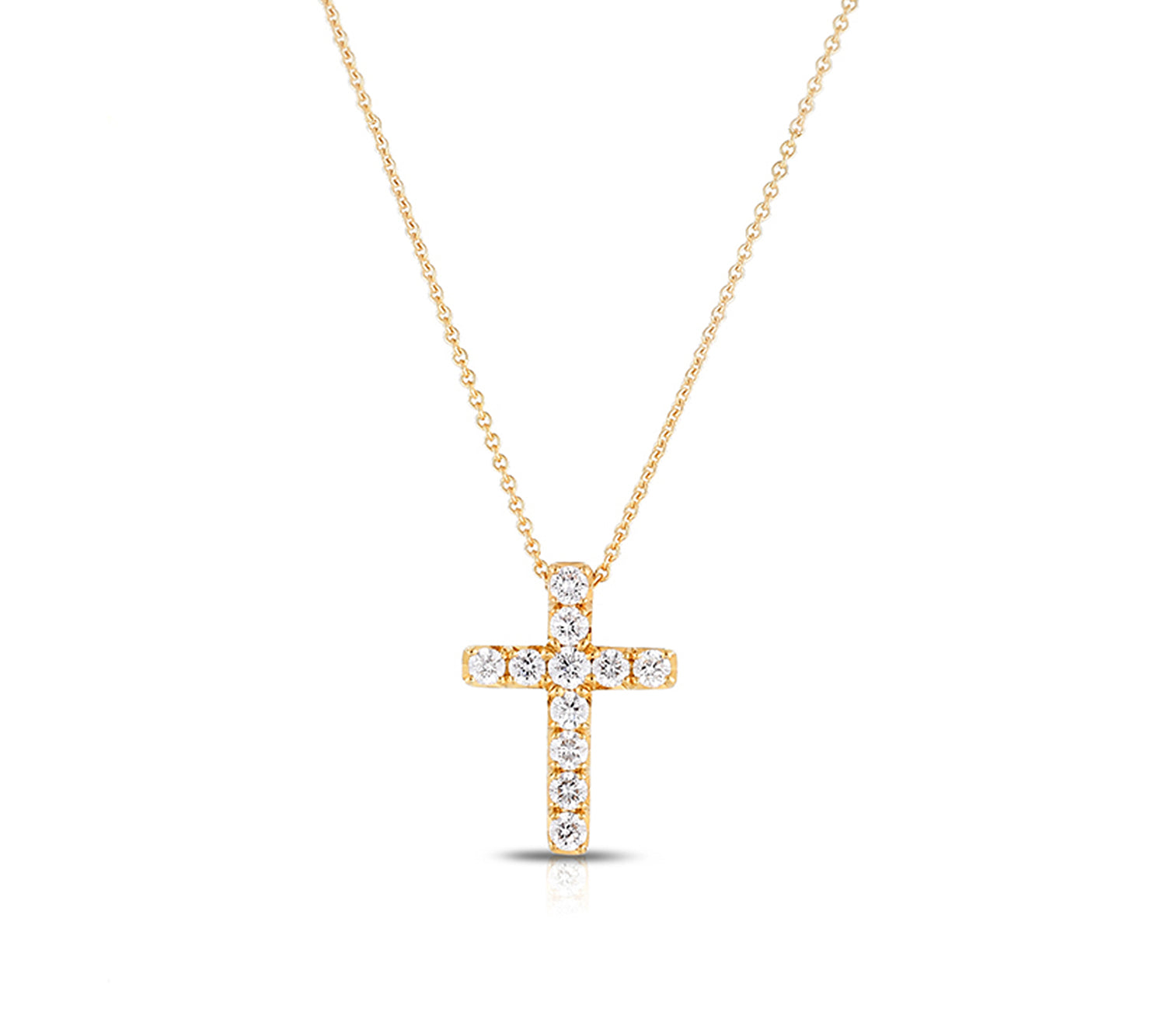 Diamond Cross in Yellow Gold