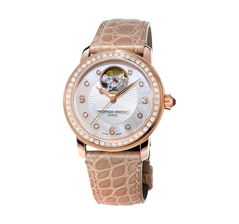 Ladies' Rose Gold Heartbeat Watch with Diamonds