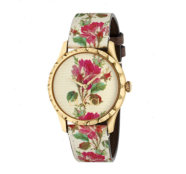 G-Timeless Watch 38mm with Blooms