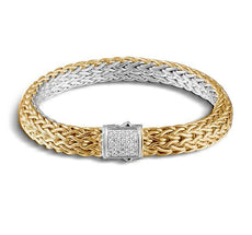 Classic Chain Medium Reversible Bracelet with Diamonds