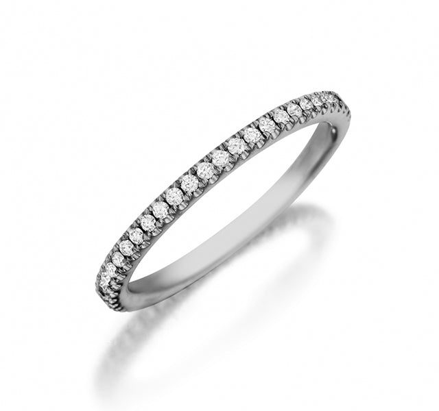 Diamond Band 3/4 Around in White Gold