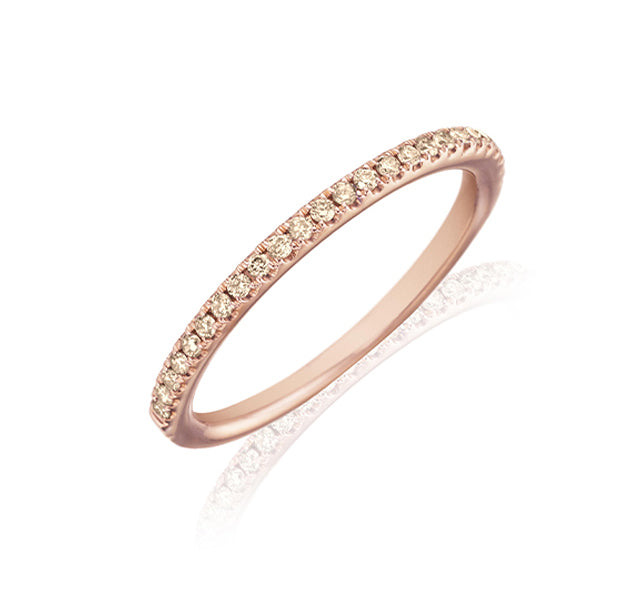 Cognac Diamond Eternity Band