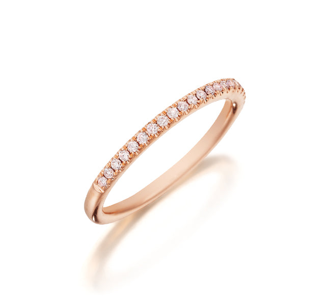 Natural Light Pink Pave Band
