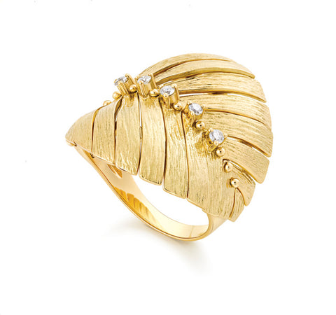 Bahia Ring with Diamonds