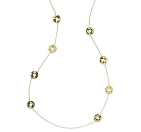 Open Disc Senso Necklace in Gold