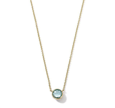 Mini Lollipop Necklace in Blue Topaz