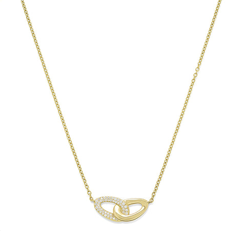 Cherish Bond Diamond Necklace in Yellow Gold