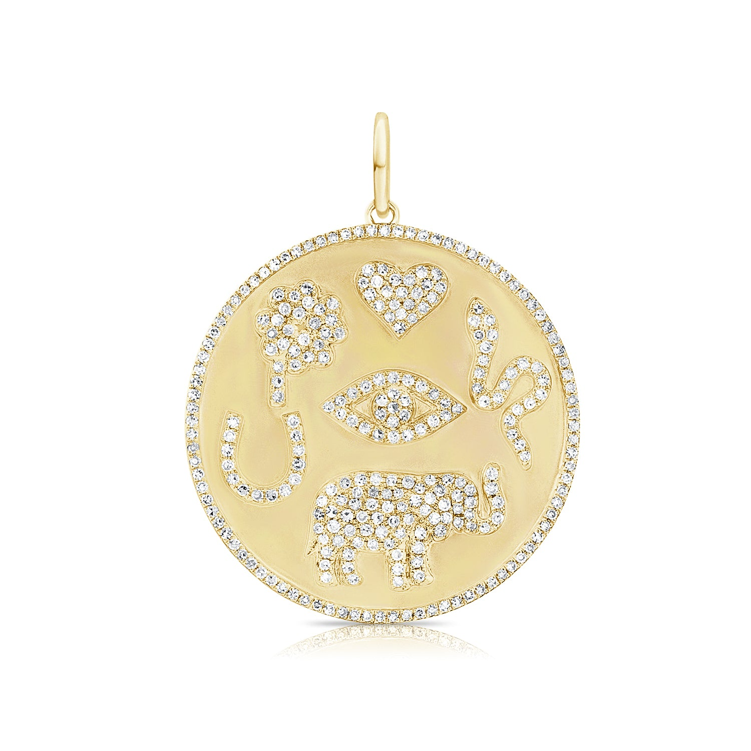 Diamond Symbols Disc Charm