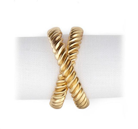 Deco Twist Napkin Jewels (Set of 4)