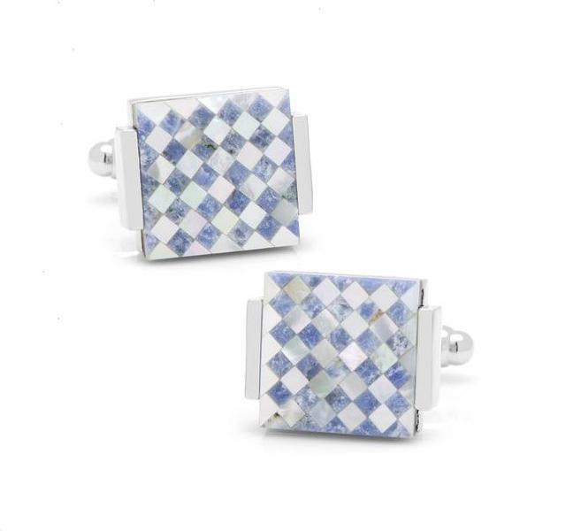 Floating Checkered Cufflinks