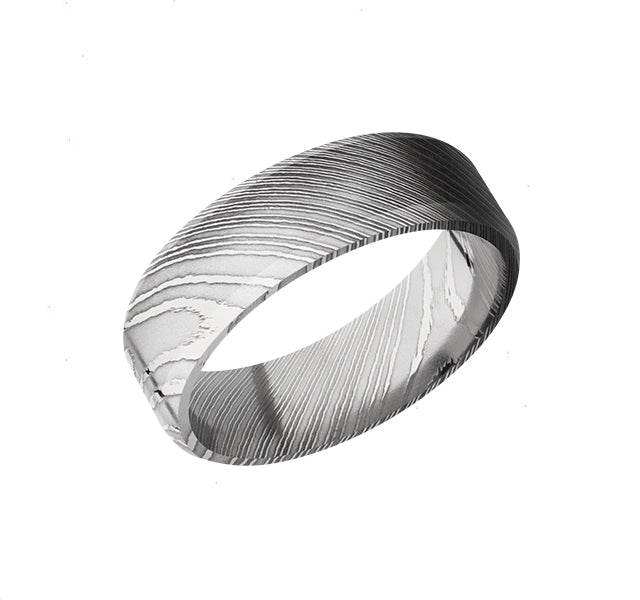 Damascus Steel 7mm Polished Band