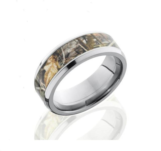 8mm Titanium Band with Camo Inlay