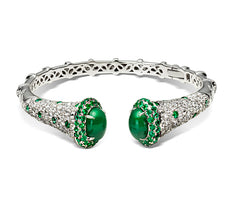 Emerald and Diamond Cuff Bracelet