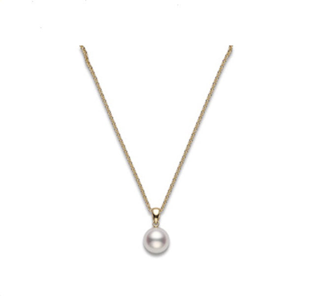 Akoya Cultured Pearl Pendant in Yellow Gold