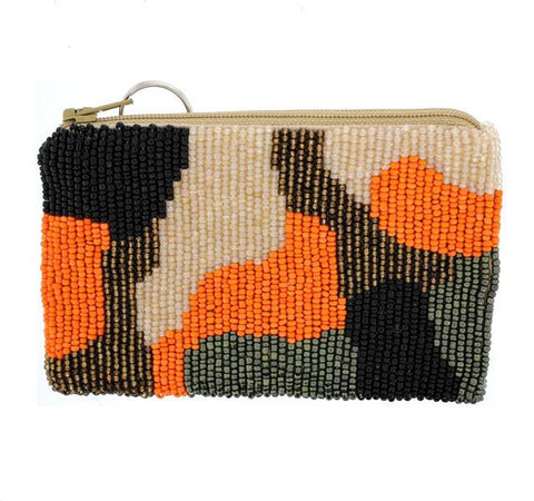 Camouflage Bead Change Purse