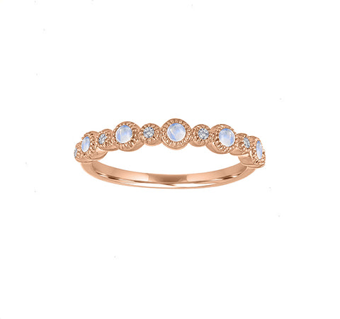The Ana Ring in Moonstone and Diamond