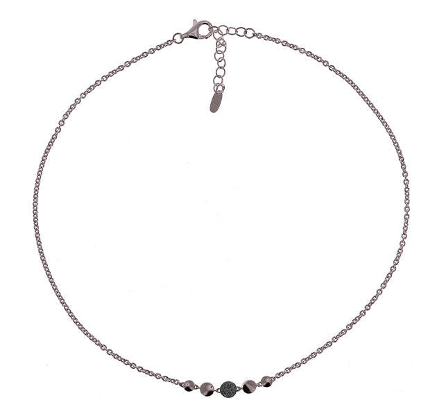 Untie Single Polvere Circle Necklace