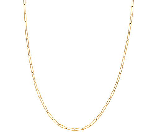 Long Link Gold Chain Necklace 30""