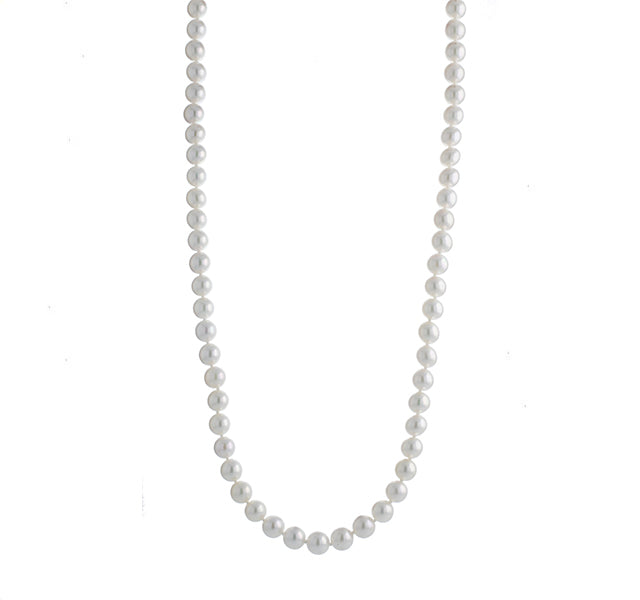 Cultured Pearl Necklace 6.5-7mm 18 inches