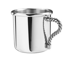 Rope Handle Pewter Baby Cup