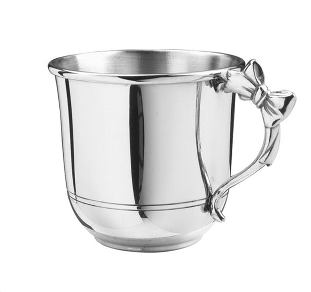 Pewter Baby Cup with Bow Handle