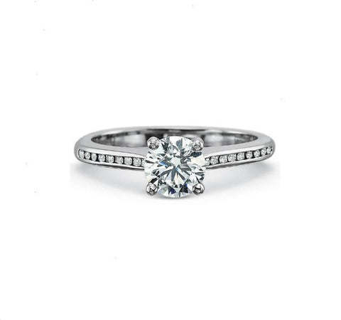 Petite FlushFit Engagement Ring Setting with Diamonds