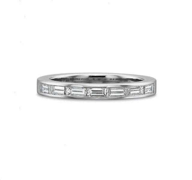 Platinum Classic Diamond Band .70ct
